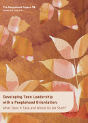 Peoplehood Papers 16: Developing Teen Leadership with a Peoplehood Orientation